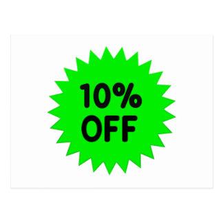 Verde el 10 por ciento apagado postal