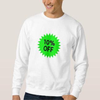 Verde el 10 por ciento apagado sudadera con capucha