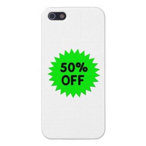 Verde el 50 por ciento apagado iPhone 5 funda
