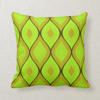 Verde el | ácido geométrico oval Curvy Almohadas