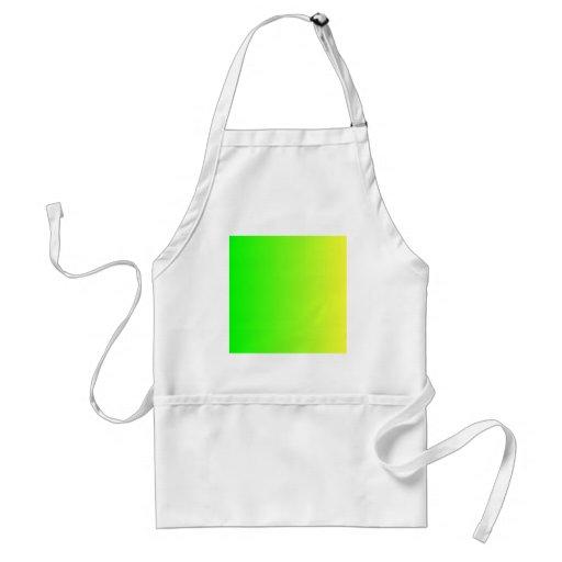 Verde eléctrico a VerticalGradient amarillo eléctr Delantal