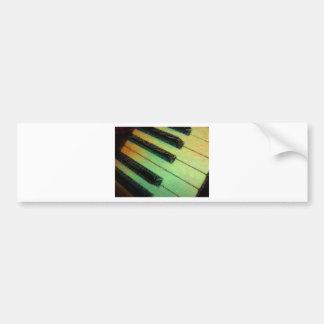 Verde eléctrico del piano pegatina para auto
