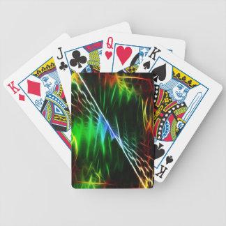 Verde eléctrico fresco barajas de cartas