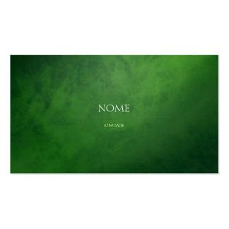 Verde elegante 3 tarjetas de visita