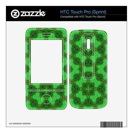 Verde elegante del modelo HTC touch pro skin