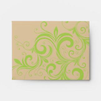 Verde elegante sobres