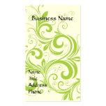 Verde elegante tarjetas de visita