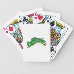 Verde en amarillo barajas de cartas