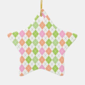 Verde en colores pastel naranja coralino rosa A Adornos De Navidad