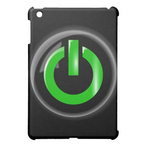 Verde en el botón de encendido - negro