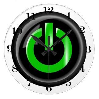 """""""Verde en"""" el botón de encendido negro Relojes"""