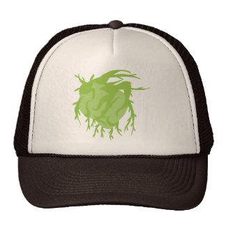 Verde en el gorra del corazón