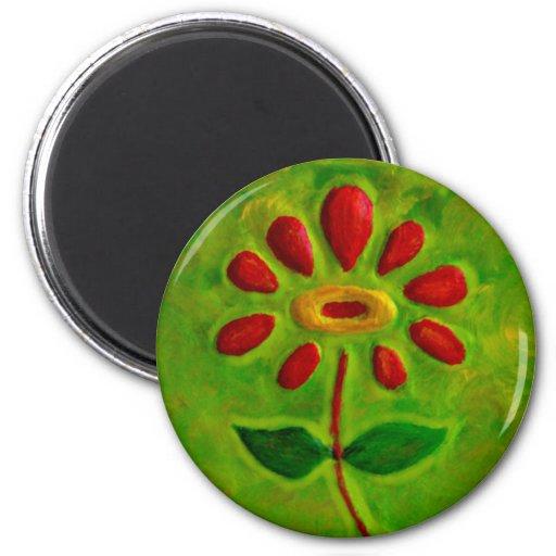 Verde en el regalo rojo de Magnet_Art del refriger Imanes De Nevera