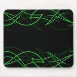 "Verde en la ""elegancia negra"" Mousepad Tapete De Raton"