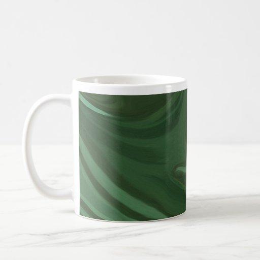 Verde en la taza verde del arte del diseñador