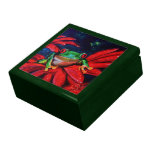 Verde en rojo caja de recuerdo