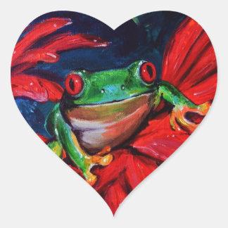 Verde en rojo calcomanías de corazones personalizadas