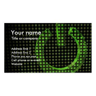 Verde en símbolo tarjeta de visita