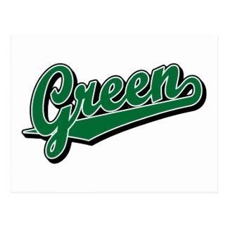 Verde en verde tarjetas postales