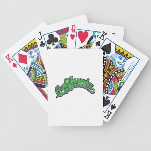 Verde en violeta cartas de juego
