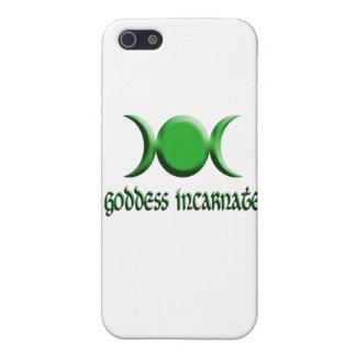 verde encarnado de la diosa iPhone 5 cobertura