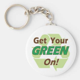 ¡Verde encendido! Llaveros