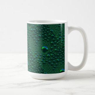 Verde es la esperanza gotas de lluvia Verdes model Taza Clásica