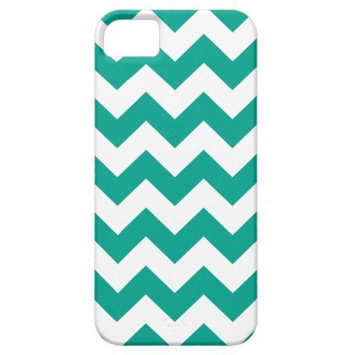 Verde esmeralda Chevron iPhone 5 Case-Mate Carcasas