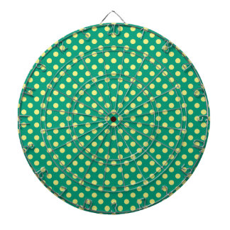 Verde esmeralda con los lunares amarillos