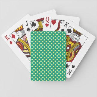 Verde esmeralda con los lunares amarillos cartas de juego