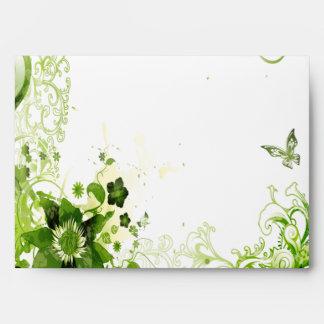 Verde esmeralda de la primavera floral sobre