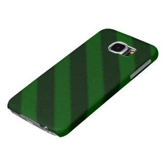 Verde esmeralda de la raya del caramelo del fundas samsung galaxy s6