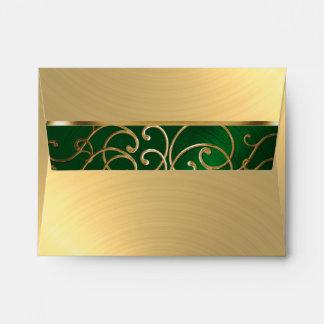 Verde esmeralda de Quinceanera y remolinos Sobre