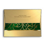 Verde esmeralda de Quinceanera y remolinos Sobres