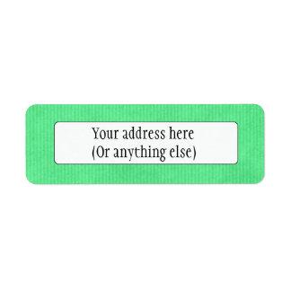 Verde esmeralda explorado de Kraft de la textura d Etiqueta De Remite