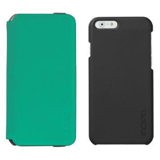 Verde esmeralda funda billetera para iPhone 6 watson