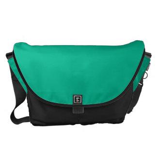 Verde esmeralda grande bolsas de mensajeria