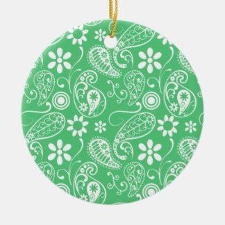 Verde esmeralda Paisley Ornatos