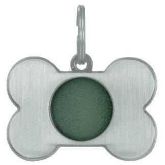 Verde esmeralda rico placa de nombre de mascota