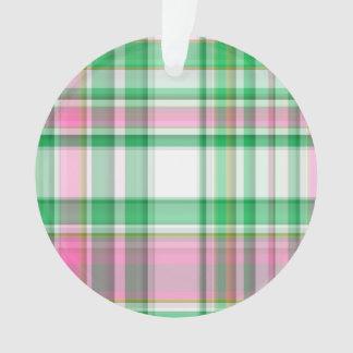 Verde esmeralda, rosa fuerte, tela escocesa de muy