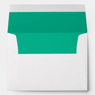 Verde esmeralda sobres