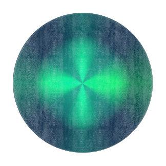 Verde esmeralda/tajadera redonda de Pattern> de la Tablas Para Cortar