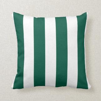Verde esmeralda y blanco rayados
