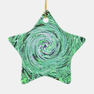 Verde especialmente adorno de cerámica en forma de estrella