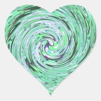 Verde especialmente calcomanías de corazones personalizadas