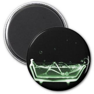 Verde esquelético del negro del baño de la radiogr imán redondo 5 cm
