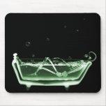 Verde esquelético del negro del baño de la radiogr tapetes de raton