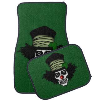 Verde esquelético irlandés del payaso alfombrilla de auto