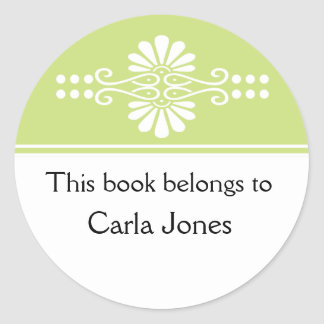 Verde este libro pertenece a las etiquetas etiquetas redondas