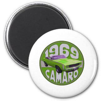 Verde estupendo de Camaro del deporte de 1969 Dupe Imanes Para Frigoríficos